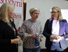 Z wójtem gminy Podedwórze Moniką Mackiewicz-Drąg